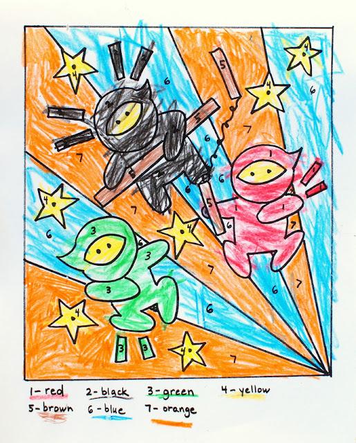 Free Printable Ninja Coloring Sheet!
