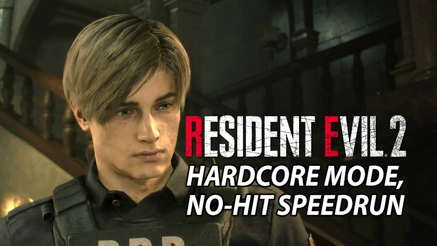 resident evil 2 remake hardcore mode no hit speed run