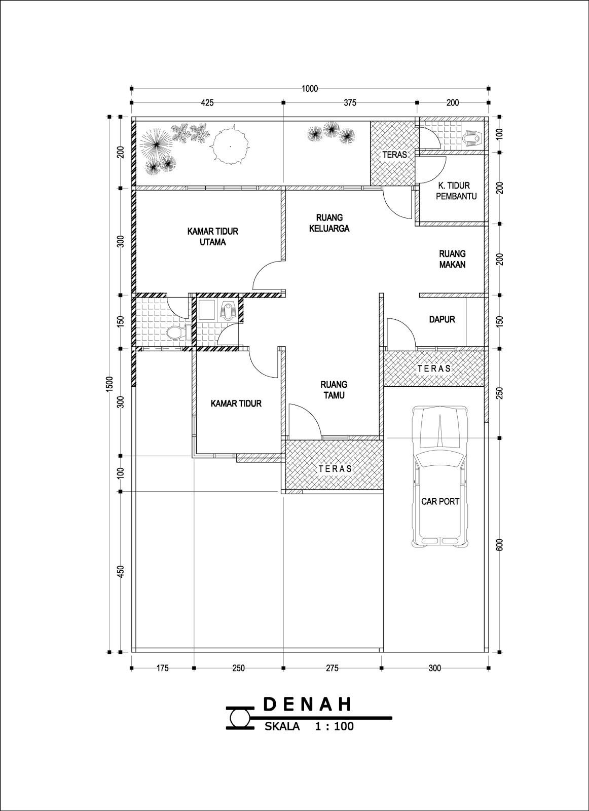 gambar denah rumah tipe 150 4