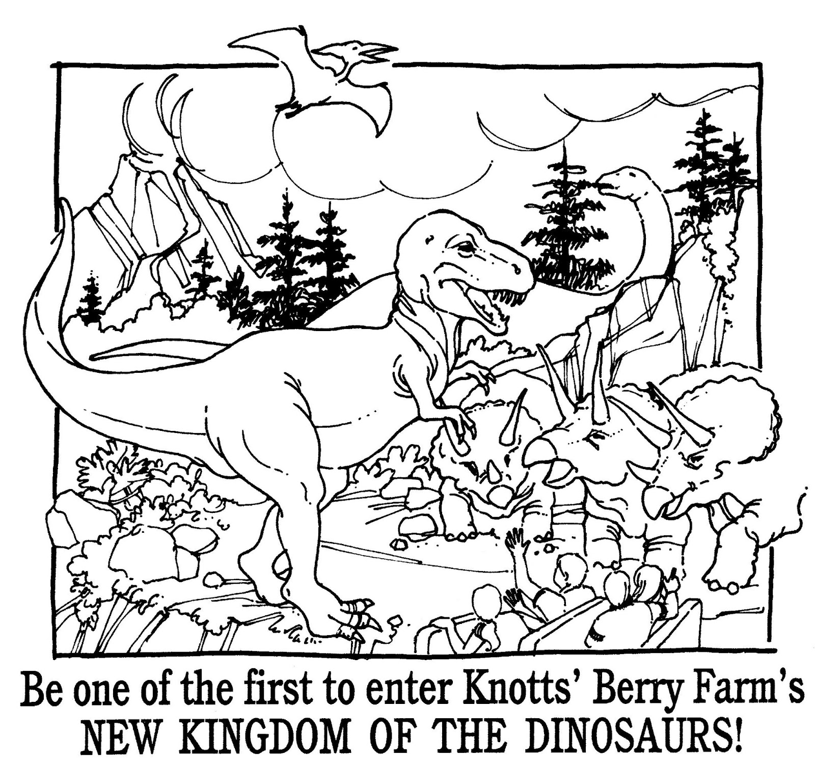 Mostly Paper Dolls Too!: KINGDOM OF THE DINOSAURS Coloring