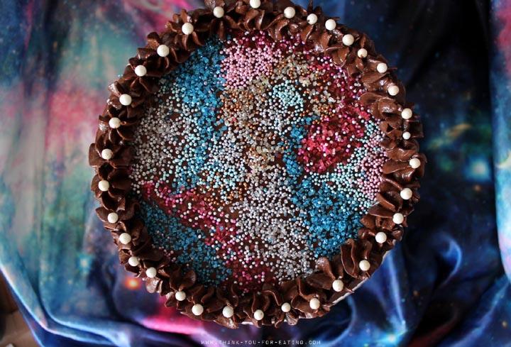 Schoko Galaxy-Torte