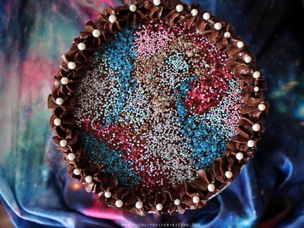 Schokoladige Galaxy-Torte
