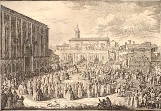 Zocchi - Stampa Canonizzazione Santa Caterina dei Ricci.