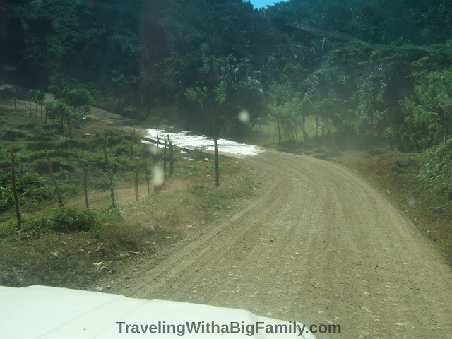 Dirt road in rural Honduras coastal community