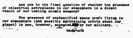 Parte del documento secreto de Einstein