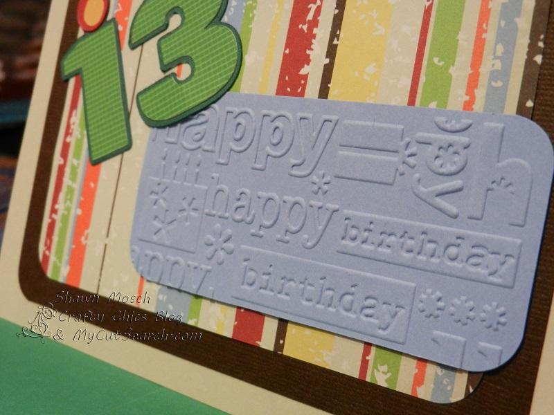 13 Year Old Boy 214086 Crafty Chics 13th Birthday Card