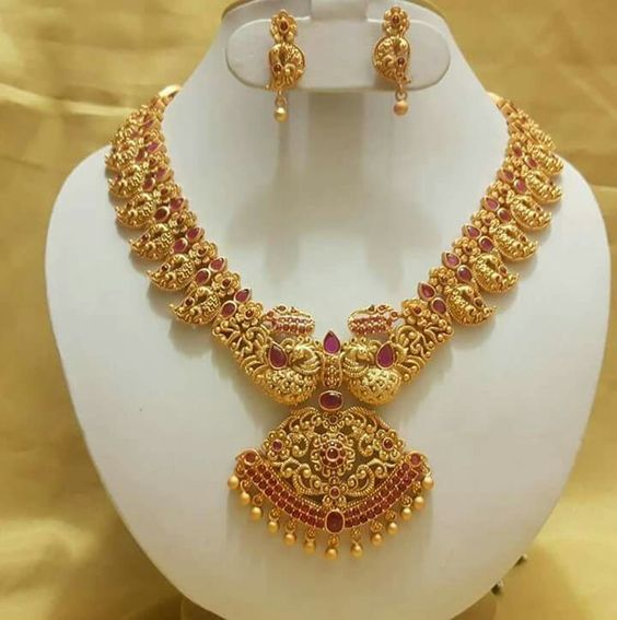 Gold Necklace Set Designs Indian Jewelry Designs