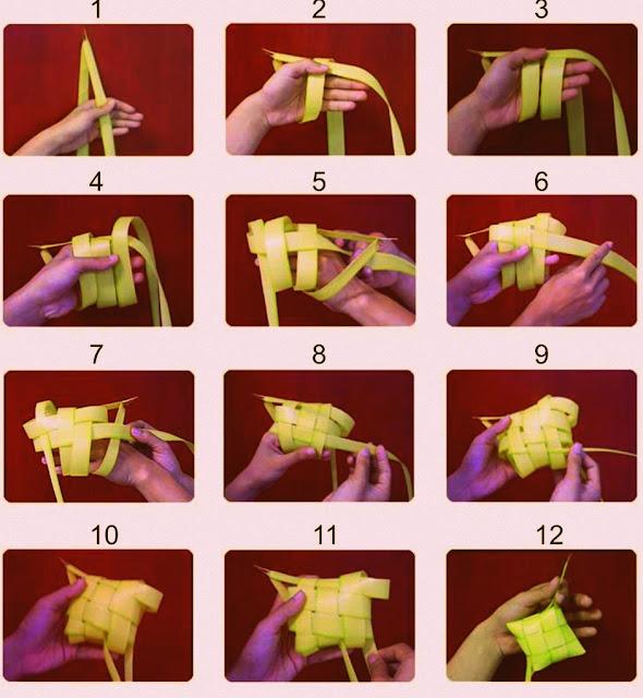 Cara Menganyam Sarung Ketupat