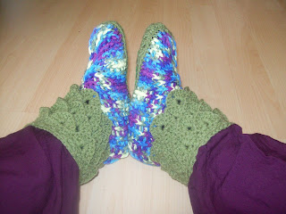 crochet crocodile slippers hand made by me