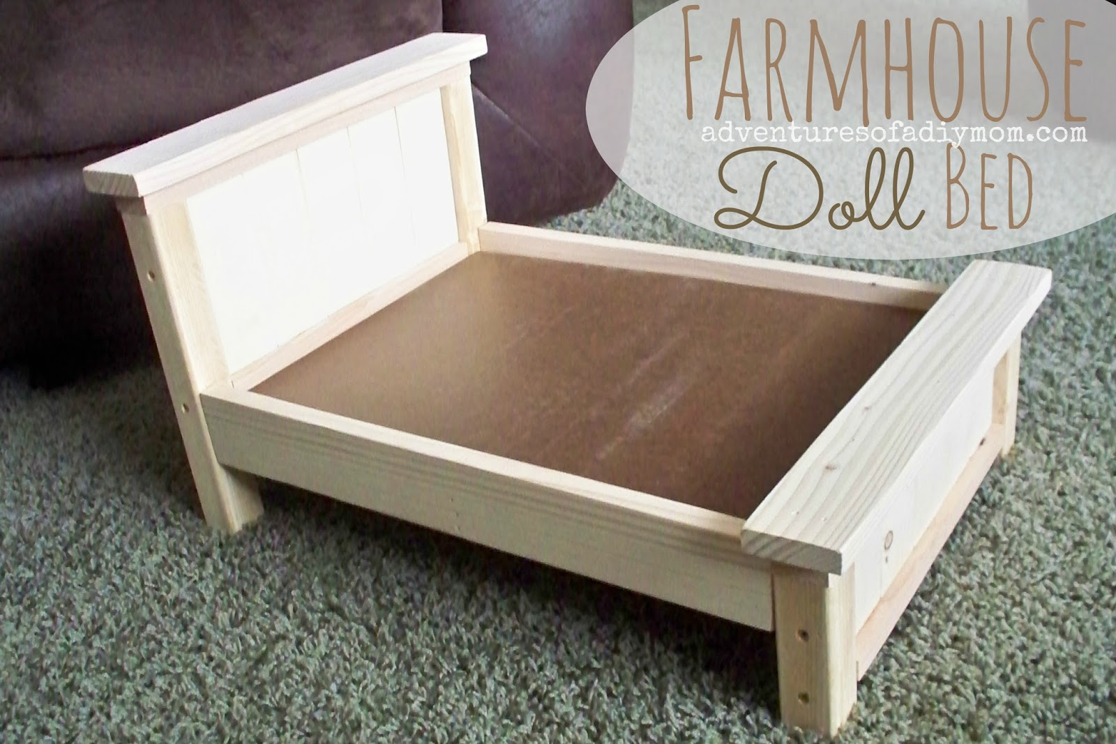 DIY Farmhouse Doll Bed for American Girl Dolls Adventures of a DIY Mom