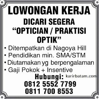 Lowongan Kerja Practician Optic