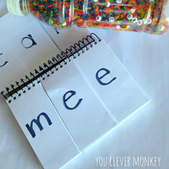 DIY I Spy - Make your own Rainbow Rice I-Spy game from recycling a water bottle! Perfect for practicising early literacy skills | you clever monkey