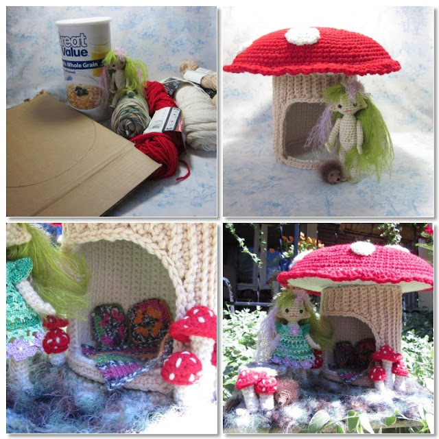 Knitting Patterns For Dolls Houses : By Hook, By Hand: Mushroom Manor