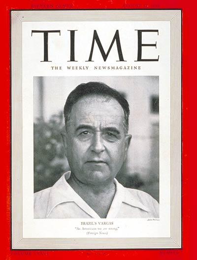 12 August 1940  worldwartwo.filminspector.com President Vargas Brazil Time Magazine