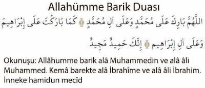 Allahümme Barik Duâsi