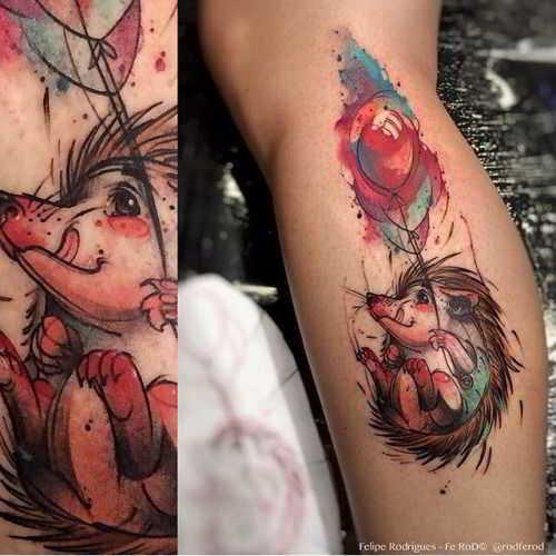 foto de tatuaje de erizo para mujere