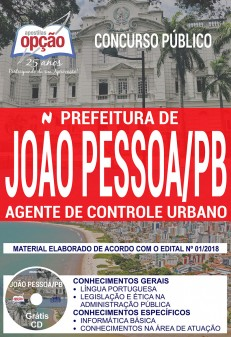 Apostila Prefeitura de João Pessoa Sedurb Agente de Controle Urbano