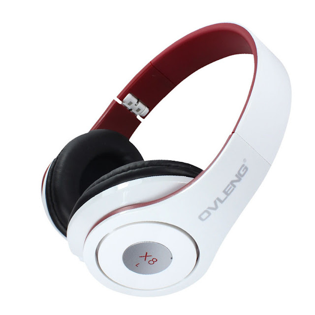 Wireless Bluetooth Over-the-Ear Headphone (White)