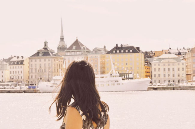 Best Stockholm Instagram Spots - view of Gamla Stan from Skeppsholmen
