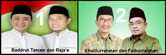 Dua pasang calon Bupati dan wakil Bupati Kabupaten Pamekasan 2018