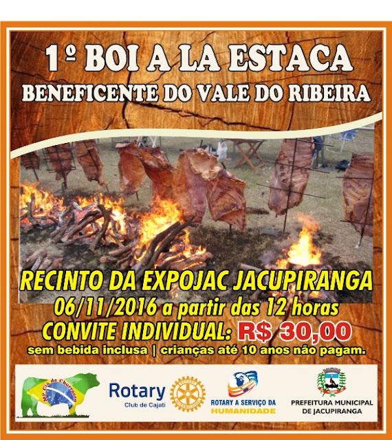 1º Boi a La Estaca beneficente do Vale do Ribeira  acontece no dia 06/11 em Jacupiranga