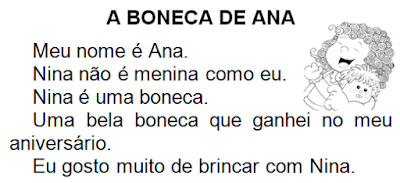 Texto A BONECA DE ANA, de Elisângela Terra