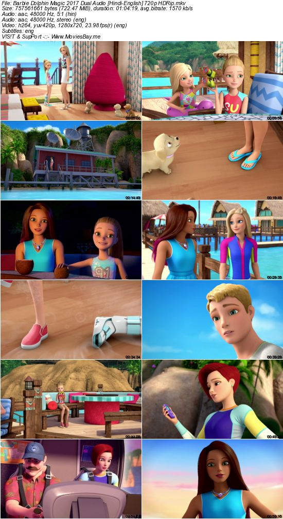 Barbie Dolphin Magic 2017 Dual Audio [Hindi-English] 720p HDRip worldfree4u