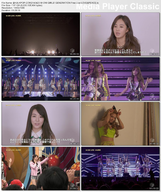"""[Show] 140423 M-ON! GIRLS' GENERATION FREE LIVE """"LOVE&PEACE"""" (131214)"""