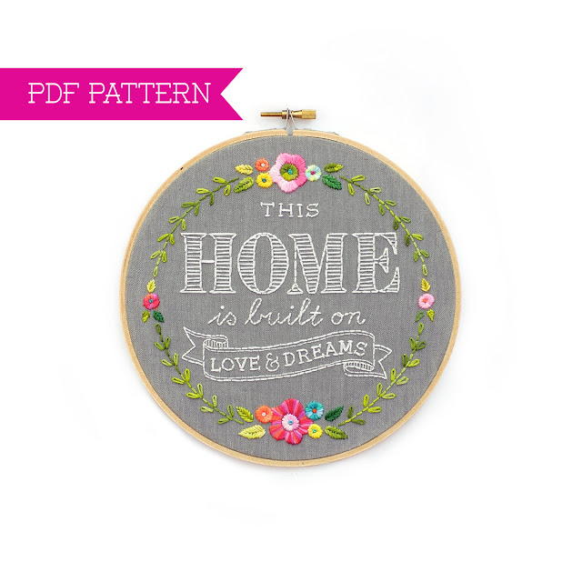 This Home is Built on Love and Dreams pattern by Lolli and Grace