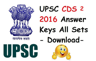 CDS 2 2016 Answer Keys All Sets (A,B,C,D) - Download Here