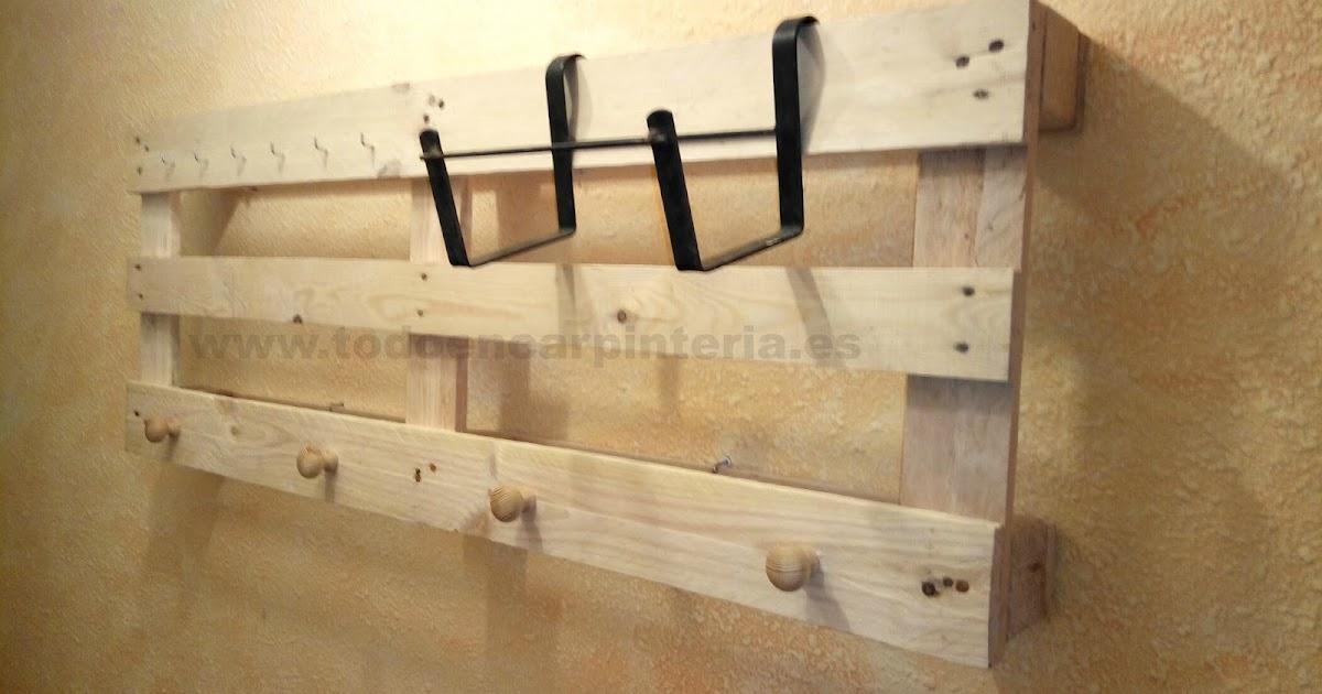 Hacer un perchero con palets de madera todo en carpinter a bricolaje y decoraci n - Bricolaje y decoracion ...