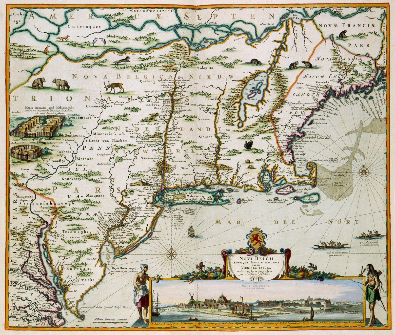 New Netherland, by Nicolaas Visscher II (1684)