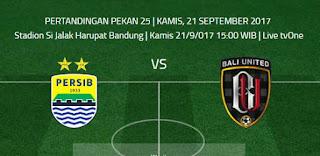 Persib Bandung vs Bali United Digelar Lebih Awal