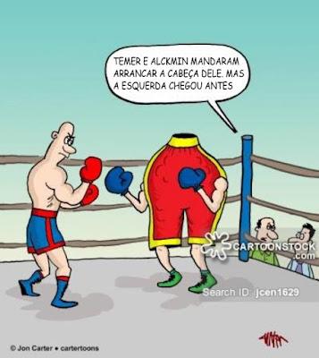 Charge com lutadores de boxe