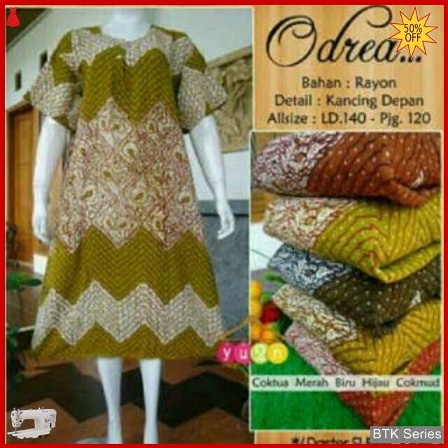 BTK023 Baju Daster Jumbo Zigzag Batik Dress Murah BMGShop
