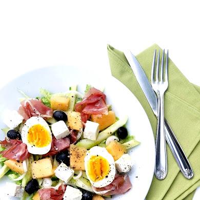 Summer Party Recipe | Cantaloupe & Cured Ham Salad