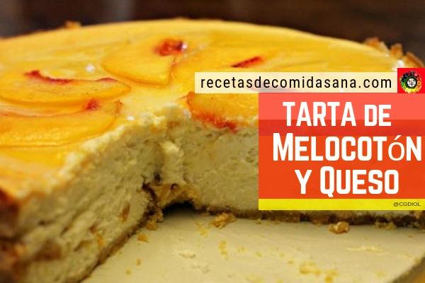 Tarta de melocotón y queso cremoso, receta de postre muy fácil de hacer