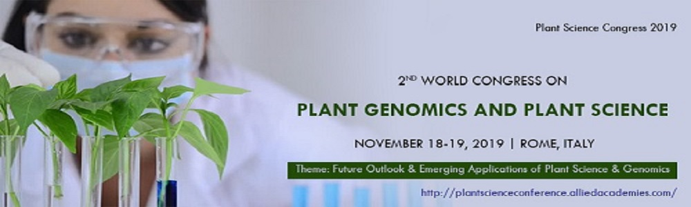 World Congress on Plant science and Genomics