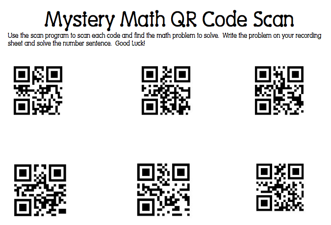 Mrs. Samuelson's Swamp Frogs: Mystery Math QR Code Scanning