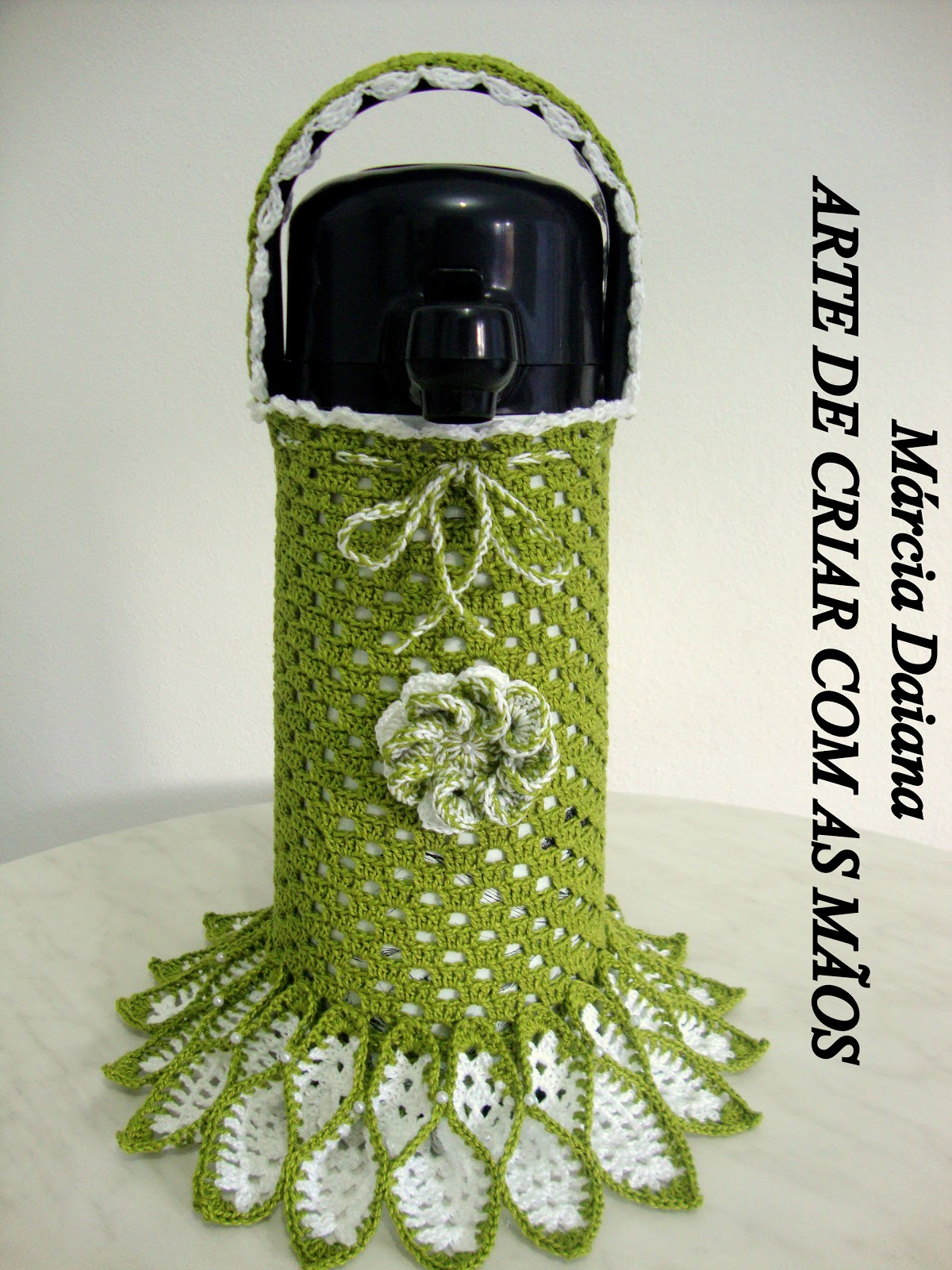 Crochê Gráfico  Capa de garrafa térmica 7453008ffd3