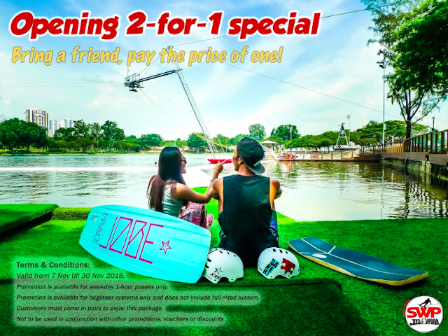 2-for-1 special singapore wake park promotion