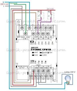 Instalasi hardware PLC lampu staircase