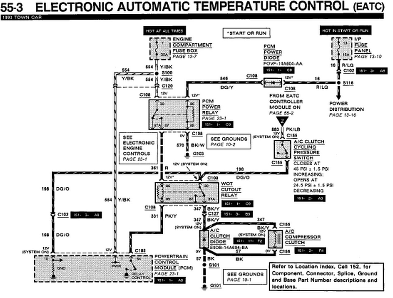 1993 Lincoln Town    Car    EATC    Wiring       DIagram         Auto       Wiring       Diagrams