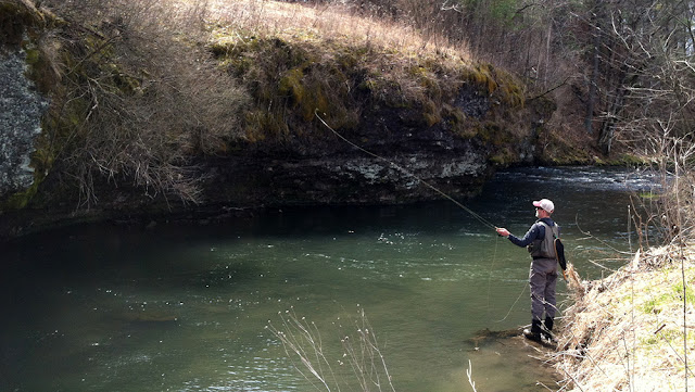 Spring trout fishing in Southeast Minnesota.