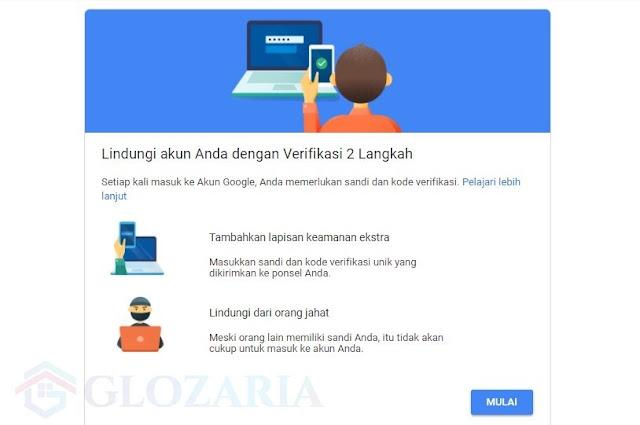 Internet Aman ! Ini Cara Aktifkan Verifikasi 2 Langkah Akun Google ( Gmail )