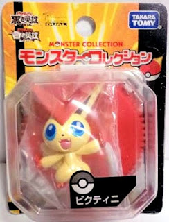 Victini figure metallic version Takara Tomy Monster Collection 2011 Seven Eleven asort