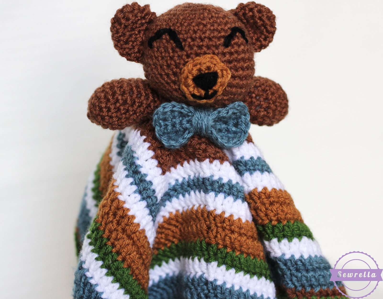 First Toy Amigurumi Toy Koala Bear Security Blanket Crochet Pattern | 1250x1600