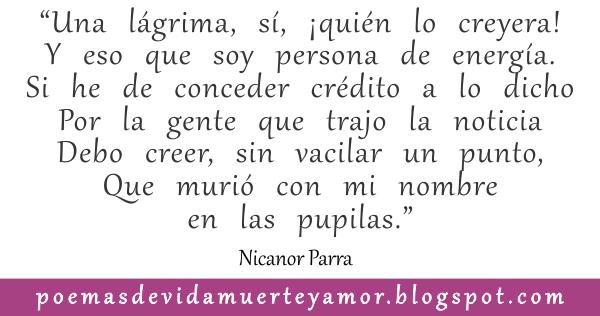 Es olvido de Nicanor Parra - Poema de amor
