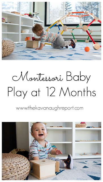 Thoughts on Montessori baby play at 12-months-old and an end to the Montessori baby series