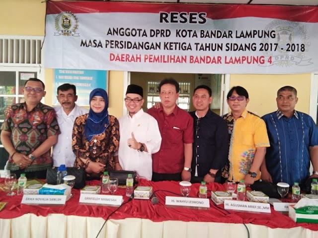 Reses Dapil I,  Warga Minta Legislator Bandar Lampung Bantu Pembebasan Lahan